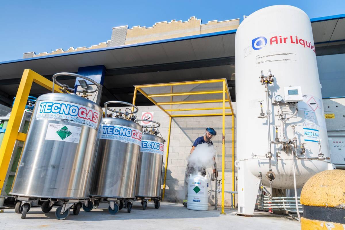 Tecnogas: dove acquistare azoto liquido per uso alimentare