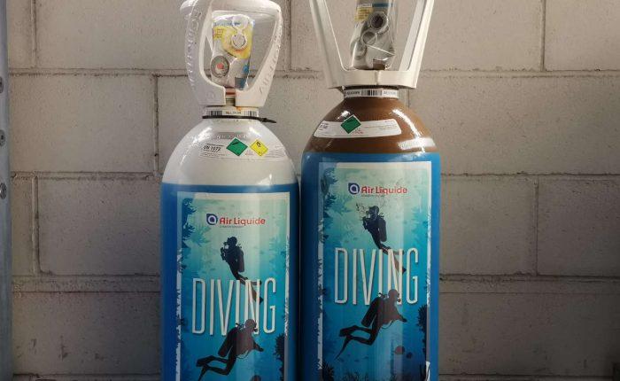 ossigeno diving